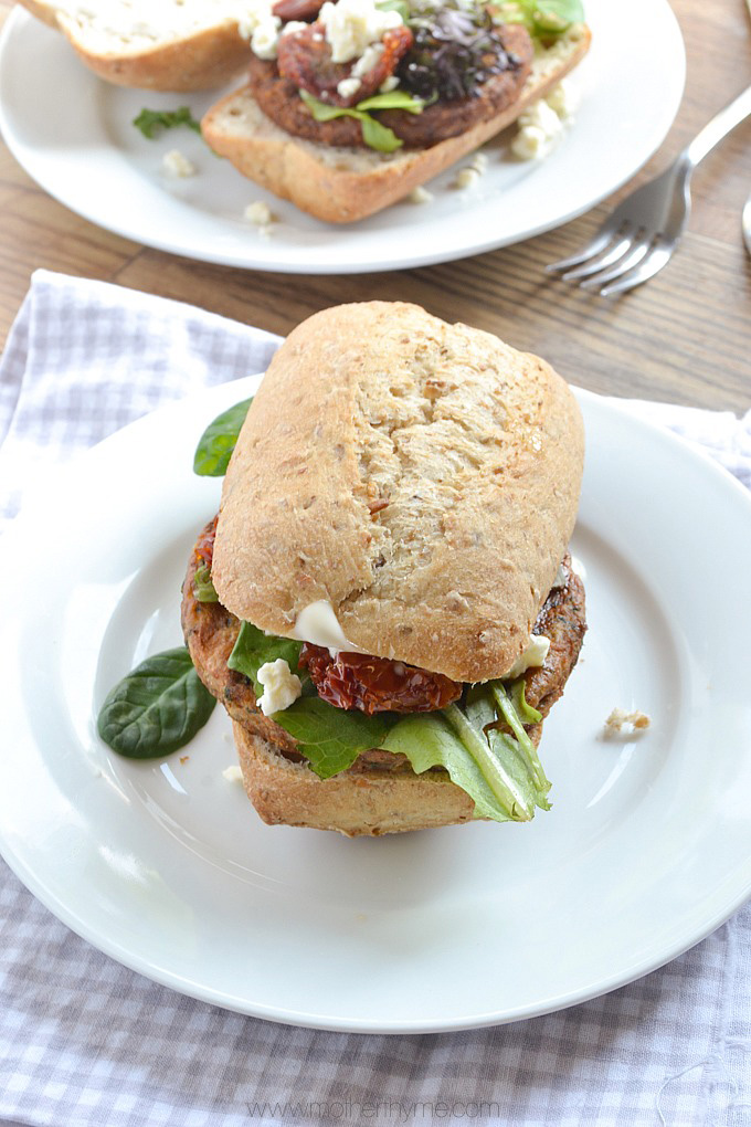 Mediterranean Chickpea Burgers | Mother Thyme
