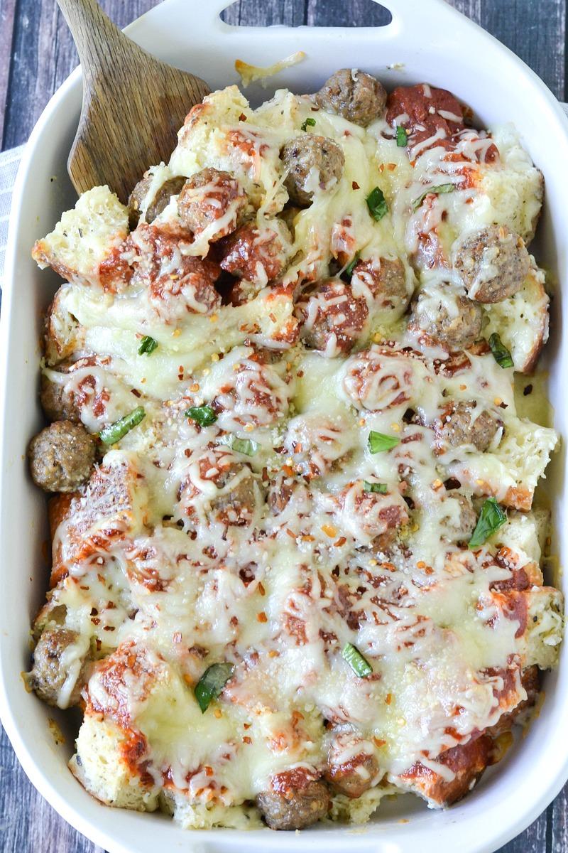 Meatball Sub Casserole | www.motherthyme.com