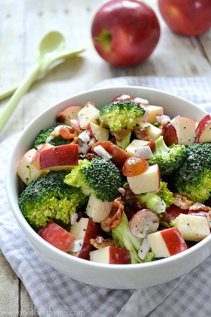 Tossed Broccoli and Apple Salad