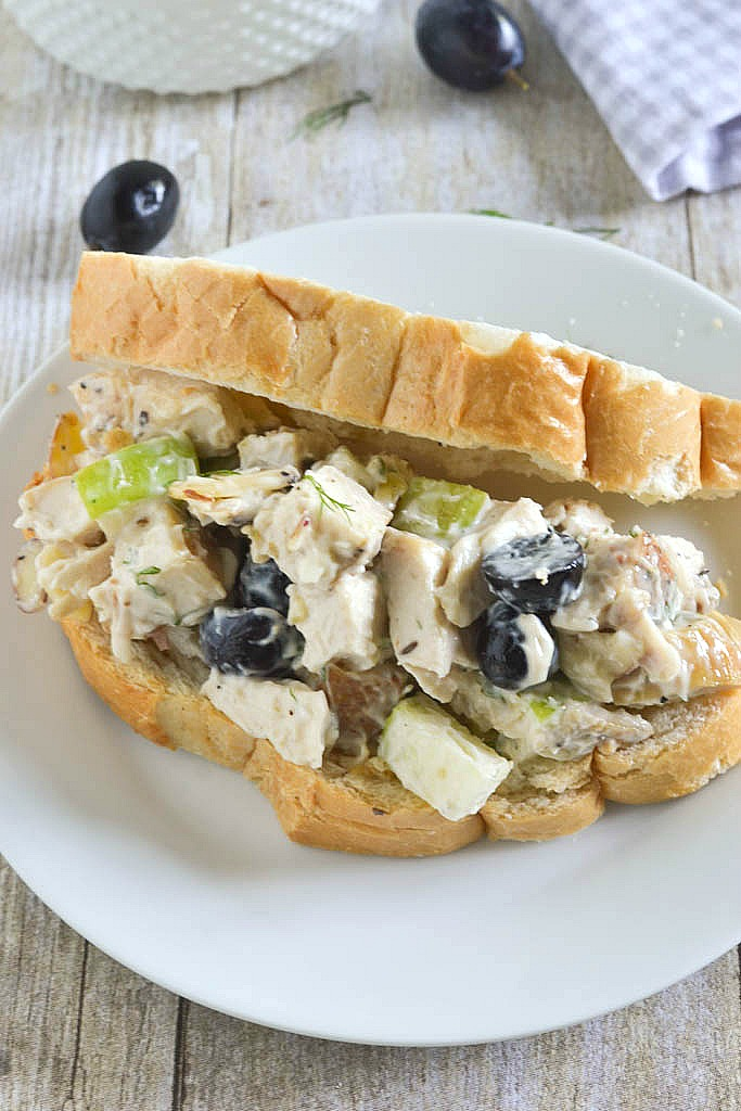 Chicken Salad with Apples, Grapes, Almonds and Dill