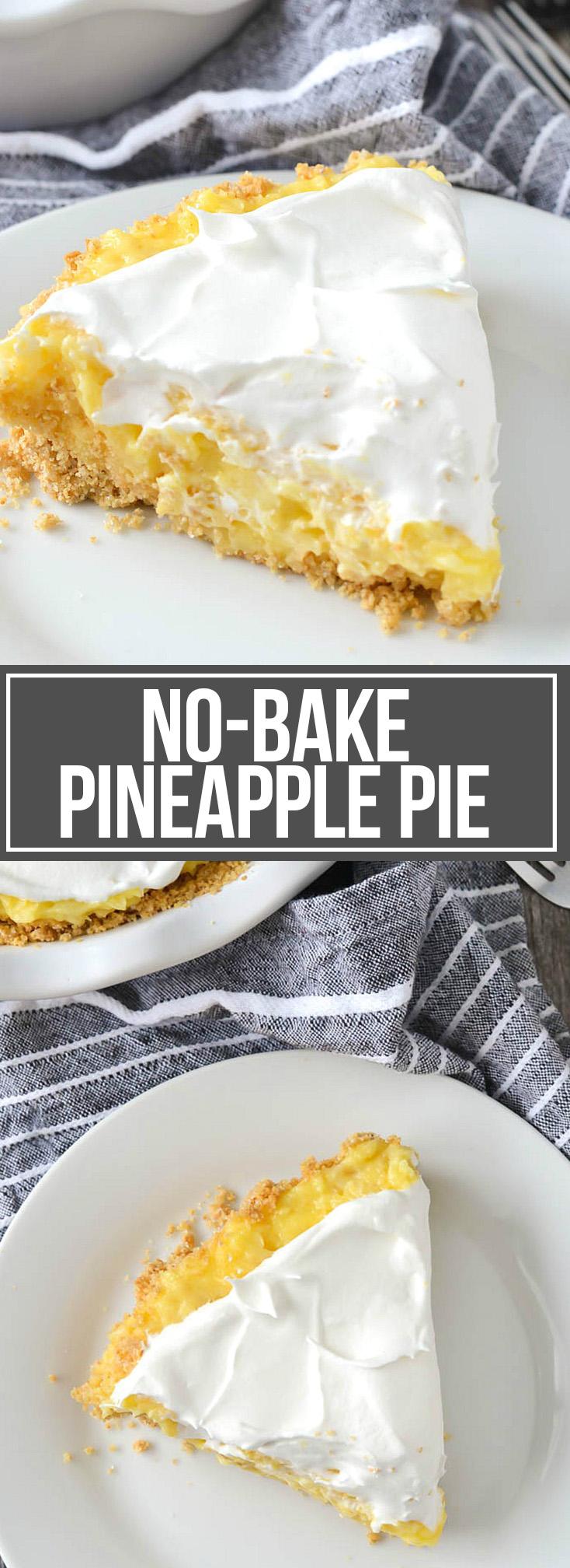 NO BAKE PINEAPPLE PIE