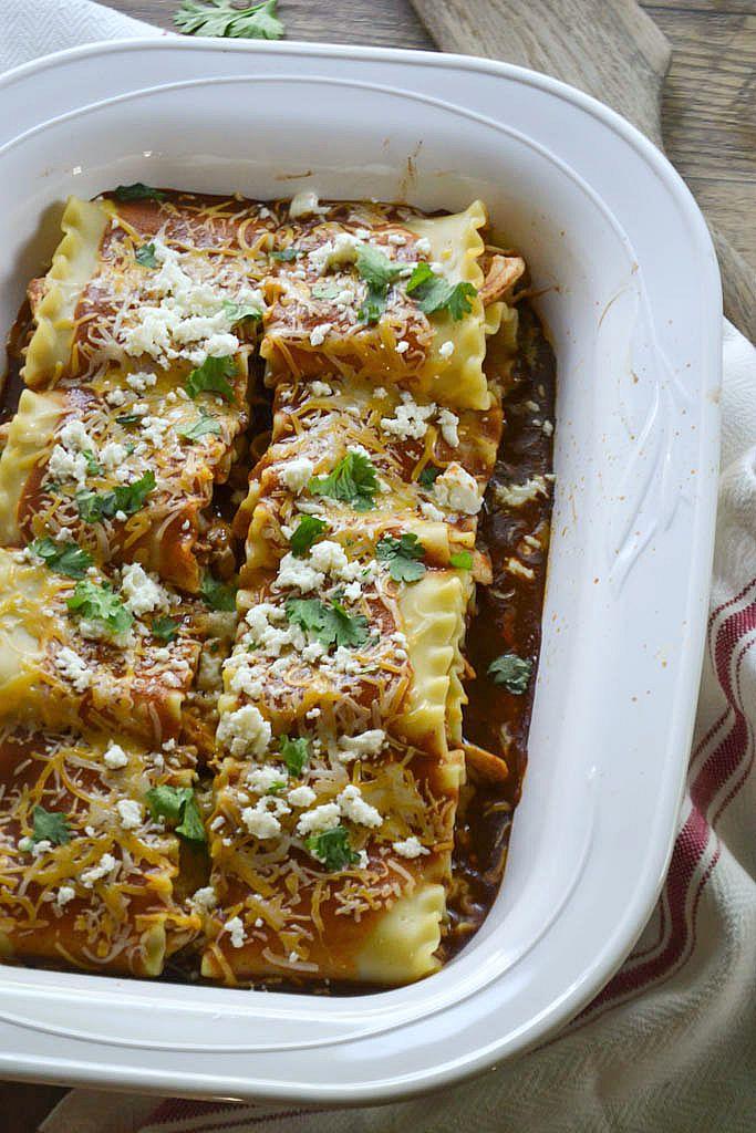 Chicken Enchilada Lasagna Rolls | www.motherthyme.com