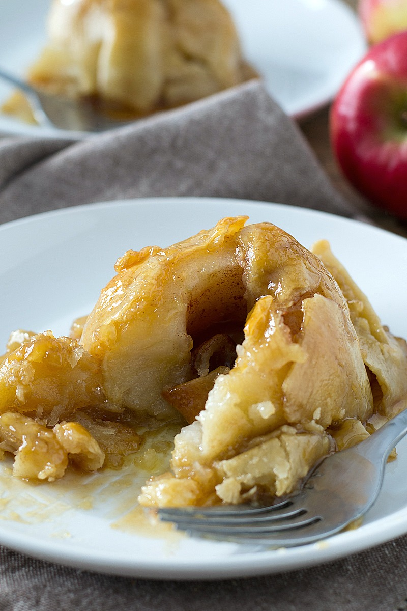 Skip the apple pie and try these warm Apple Dumplings that are super simple to make and are good!