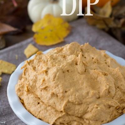 3 Ingredient Pumpkin Pie Dip