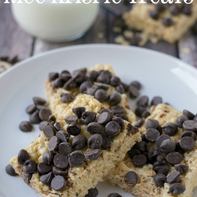 Chocolate Chip Cookie Rice Krispie Treats