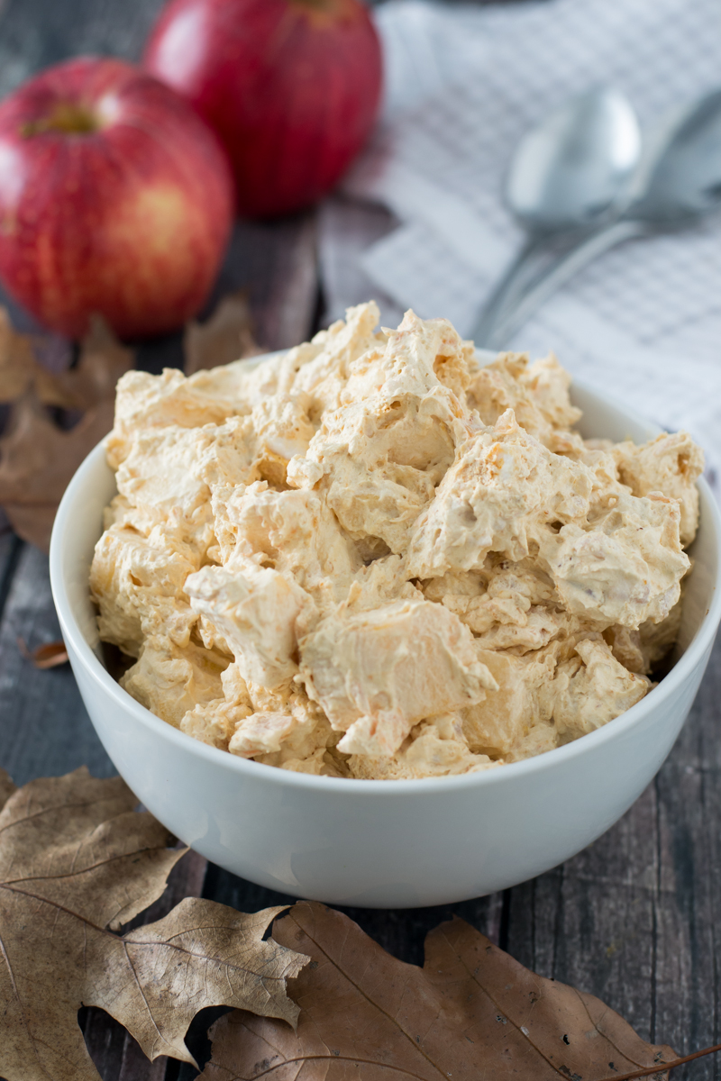 Caramel Apple Fluff | www.motherthyme.com