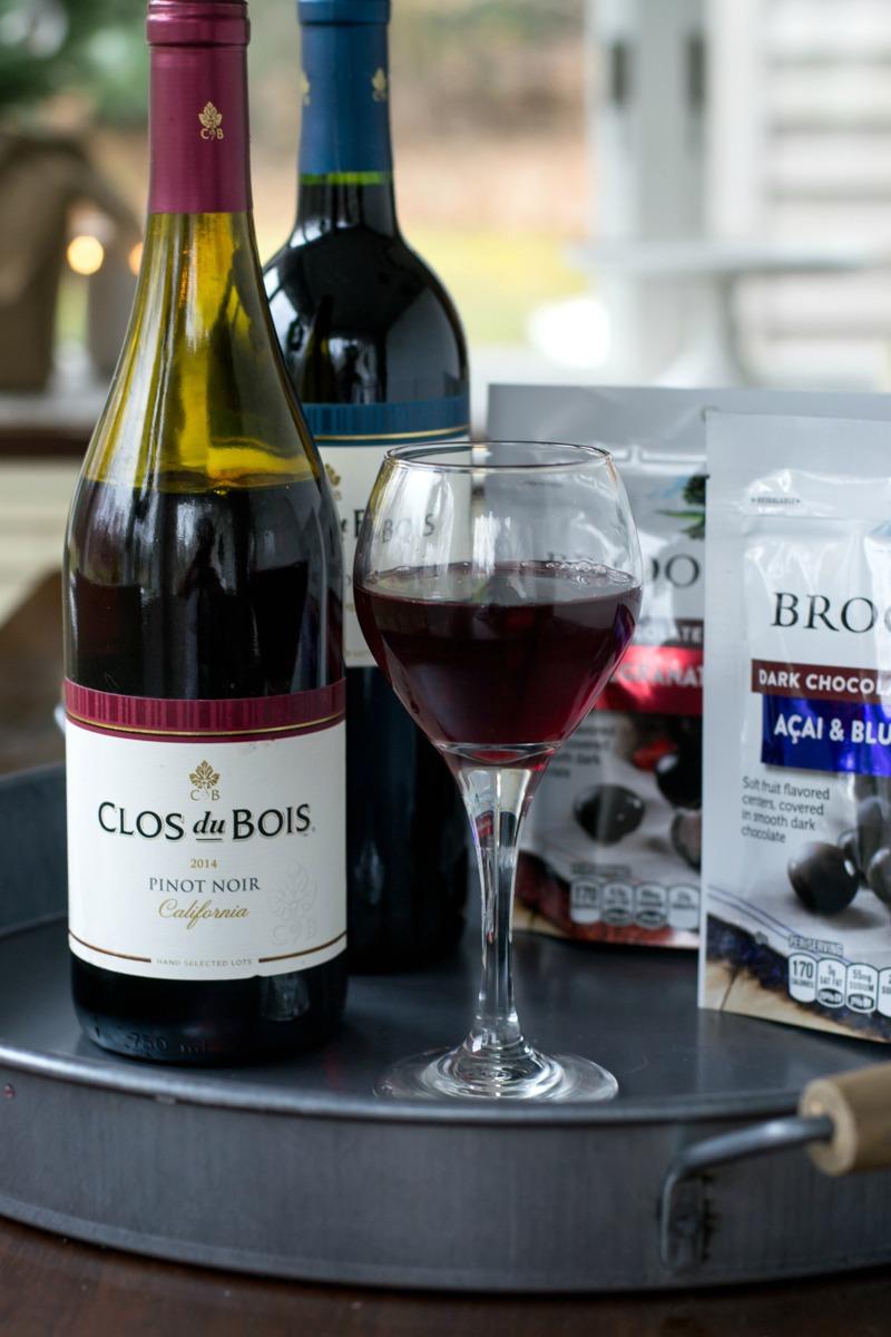 Holiday Entertaining with Clos du Bois + BROOKSIDE Chocolate
