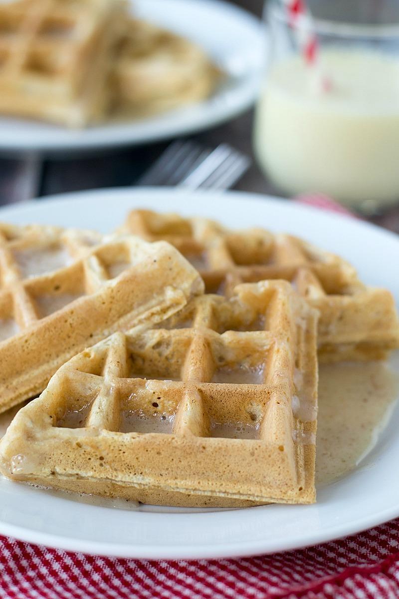 Eggnog Waffles   www.motherthyme.com