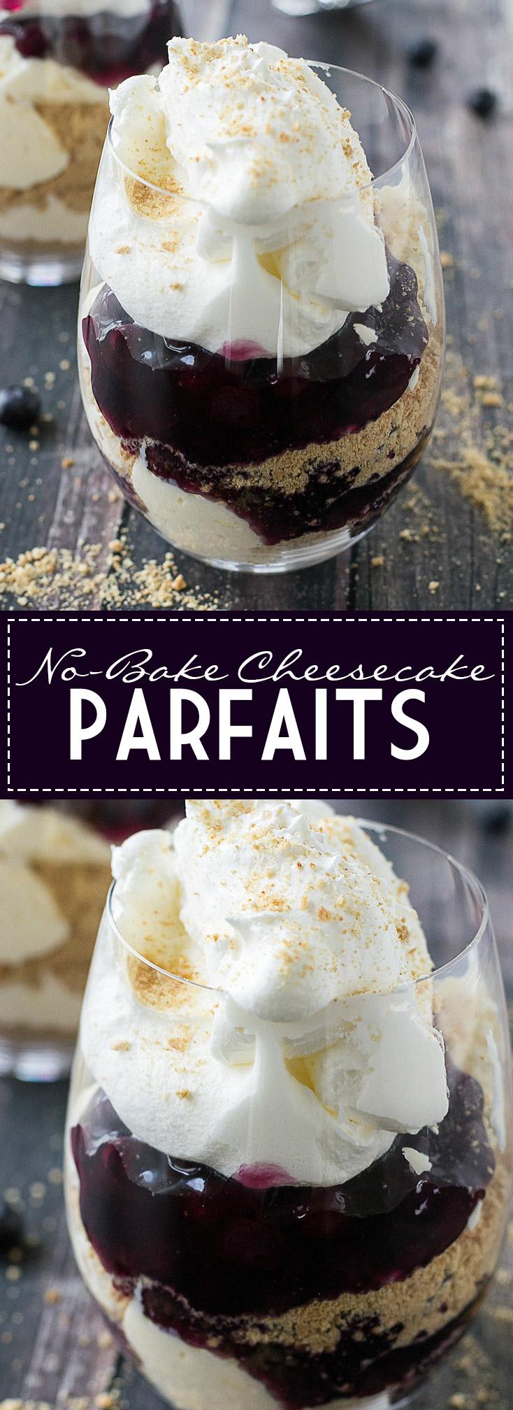 No-Bake Cheesecake Parfaits | www.motherthyme.com