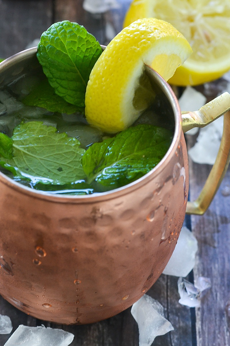 Sweet Lemon and Mint Moscow Mule | www.motherthyme.com