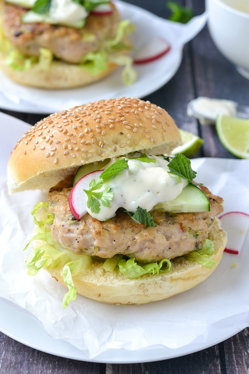 Asian Chicken Burgers   www.motherthyme.com