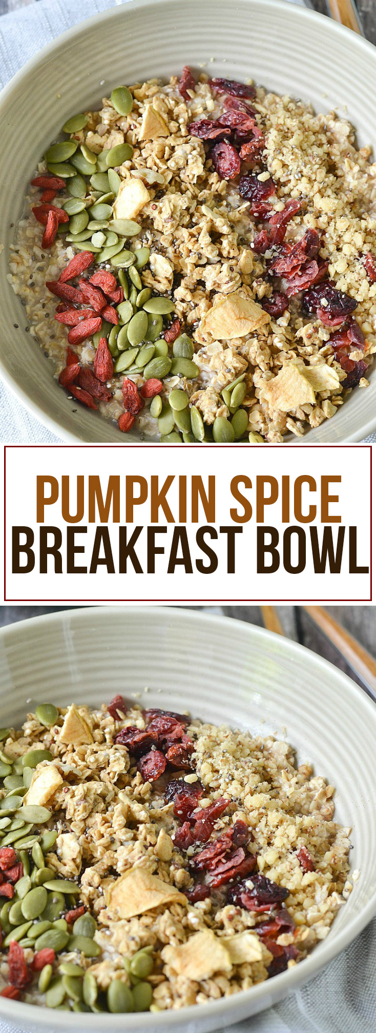 Pumpkin Spice Breakfast Bowls | www.motherthyme.com