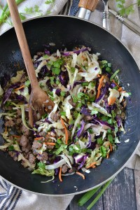 ONE-POT BEEF AND CABBAGE STIR FRY (EASY + PALEO)