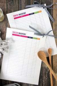 FREEZER AND PANTRY INVENTORY | FREE PRINTABLE