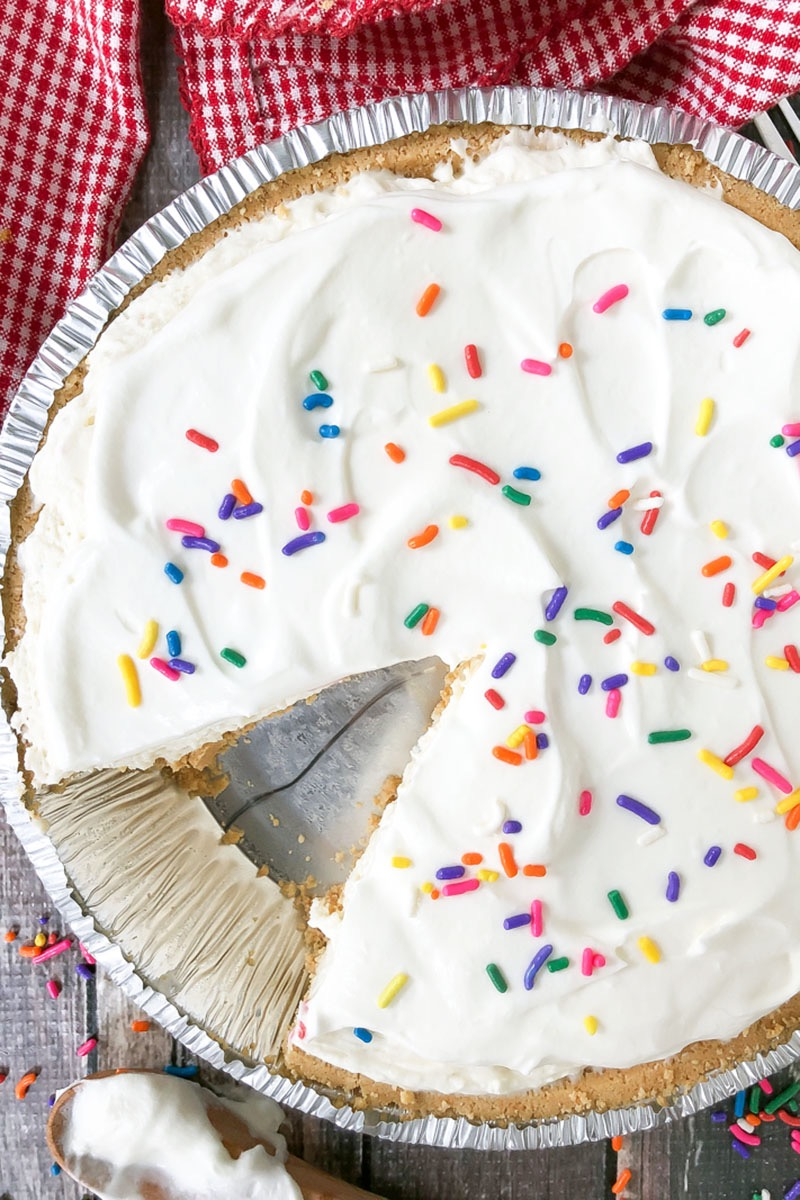 NO BAKE CAKE BATTER CHEESECAKE