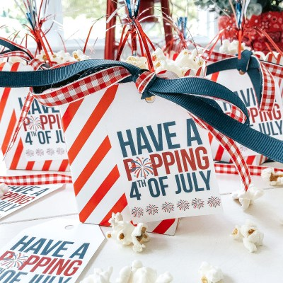 4th of July Popcorn Tag (free printable)