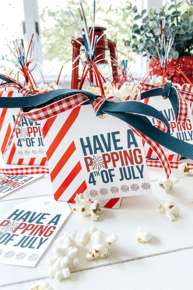 4th of July Popcorn Tags (free printable