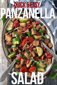 QUICK AND EASY PANZANELLA SALAD