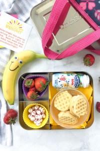 STRAWBERRIES AND CREAM WAFFLE SANDWICH BREAKFAST BOX