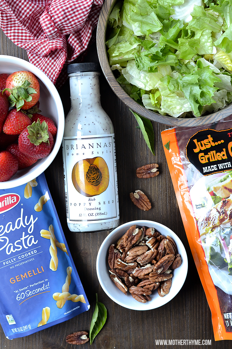 CHICKEN AND STRAWBERRY POPPY SEED SALAD DRESSING