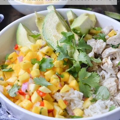 Mango Salsa Chicken Burrito Bowls