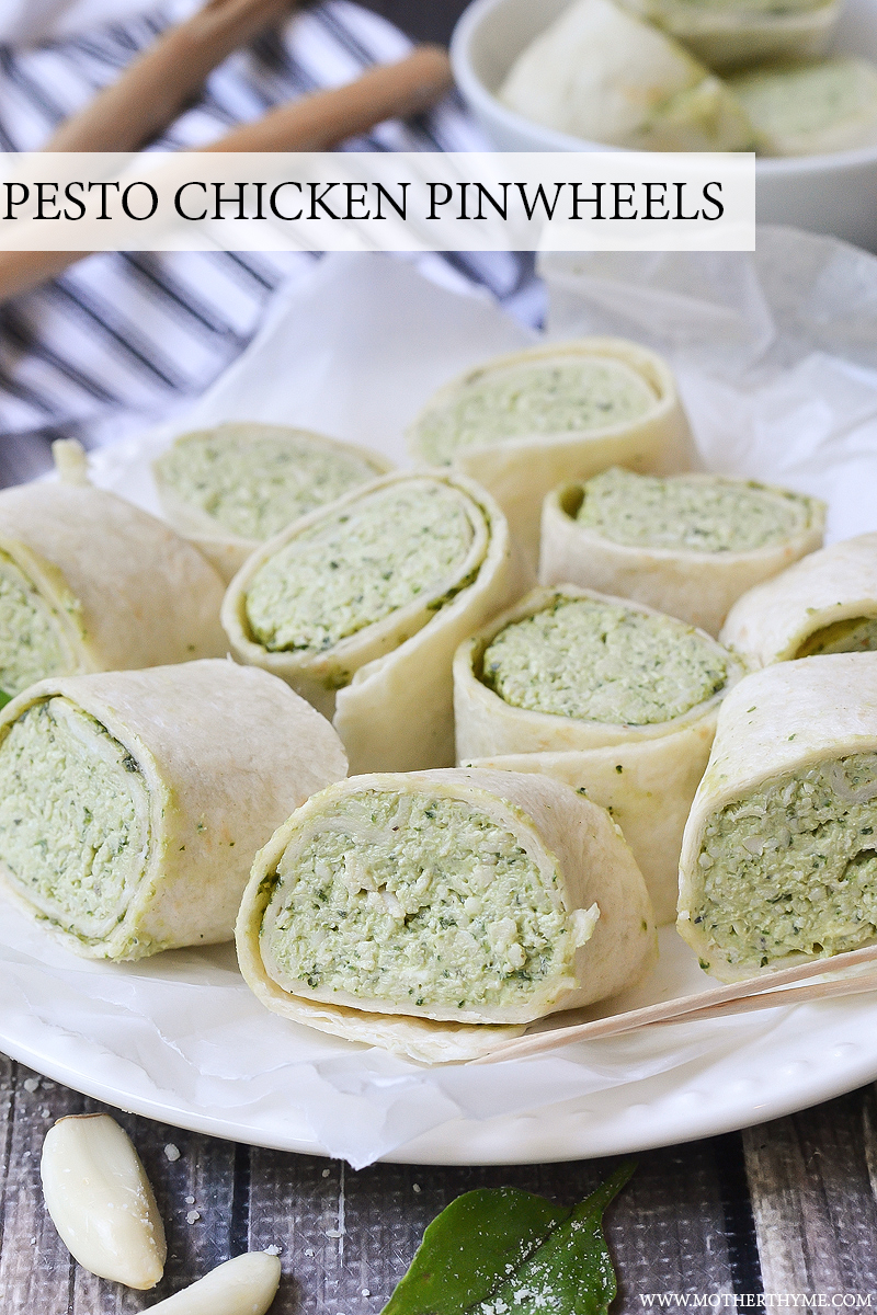 PESTO CHICKEN PINWHEELS