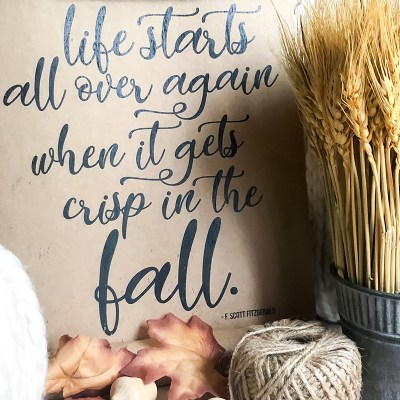 Life Starts Again in the Fall – Free Printable