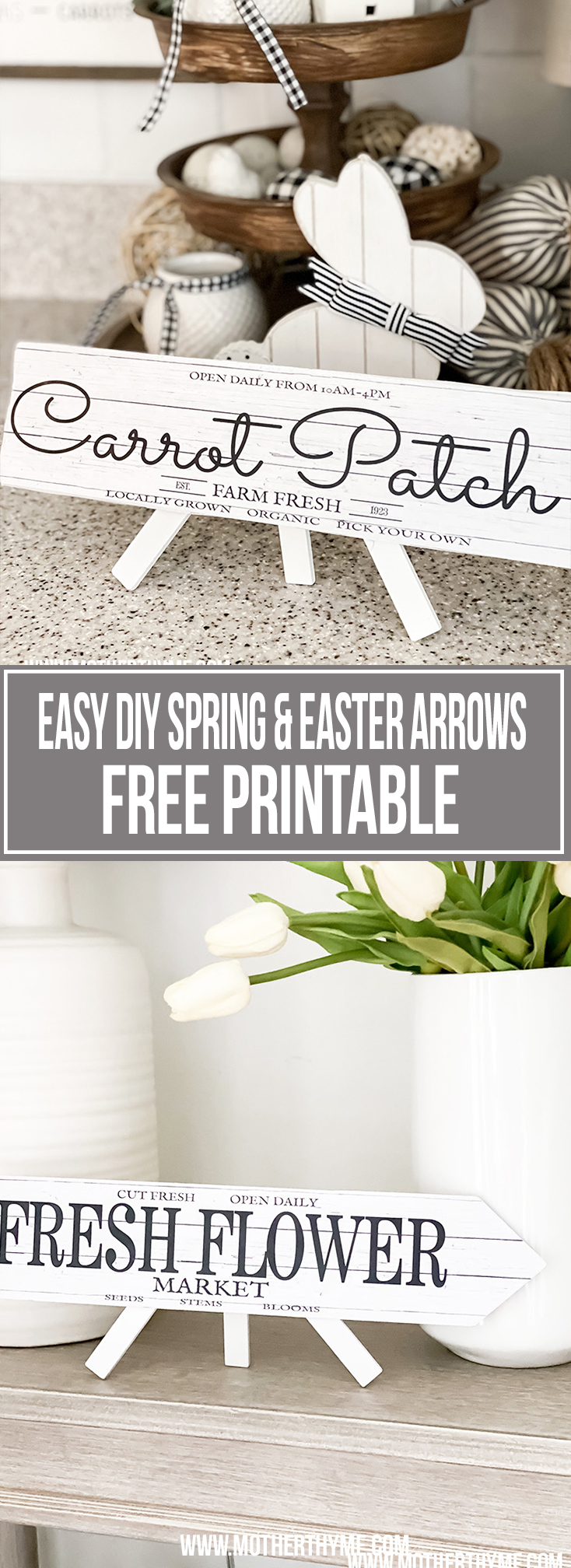 EASY DIY SPRING AND EASTER ARROWS WITH FREE PRINTABLES