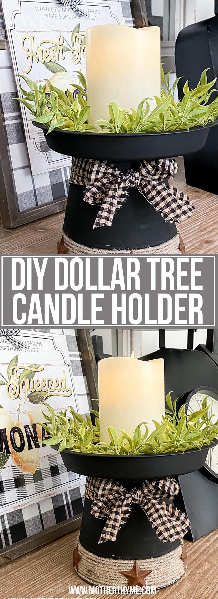 DIY DOLLAR TREE CANDLE HOLDER
