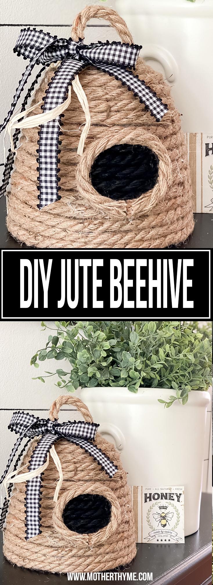 DIY JUTE BEEHIVE