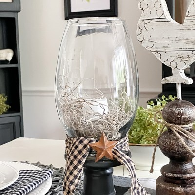 DIY Dollar Tree Glass Candle Holder