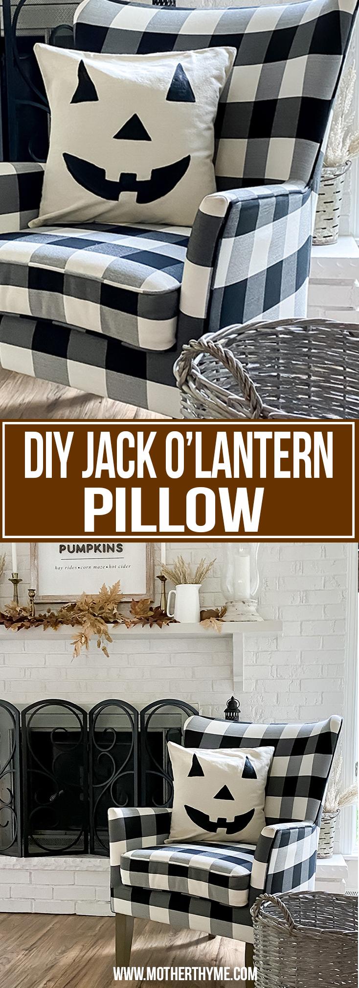 Easy DIY Jack O Lantern Pillow F