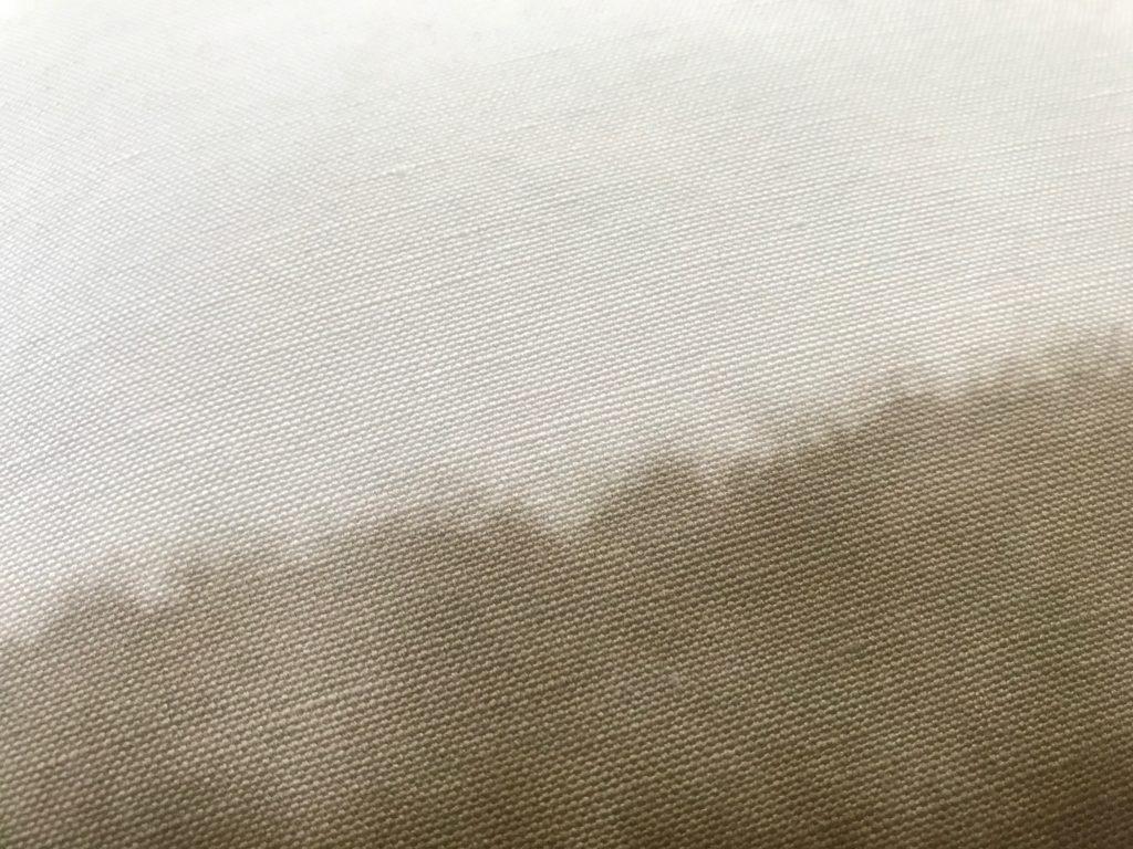 detail closeup of watercolor linen canvas