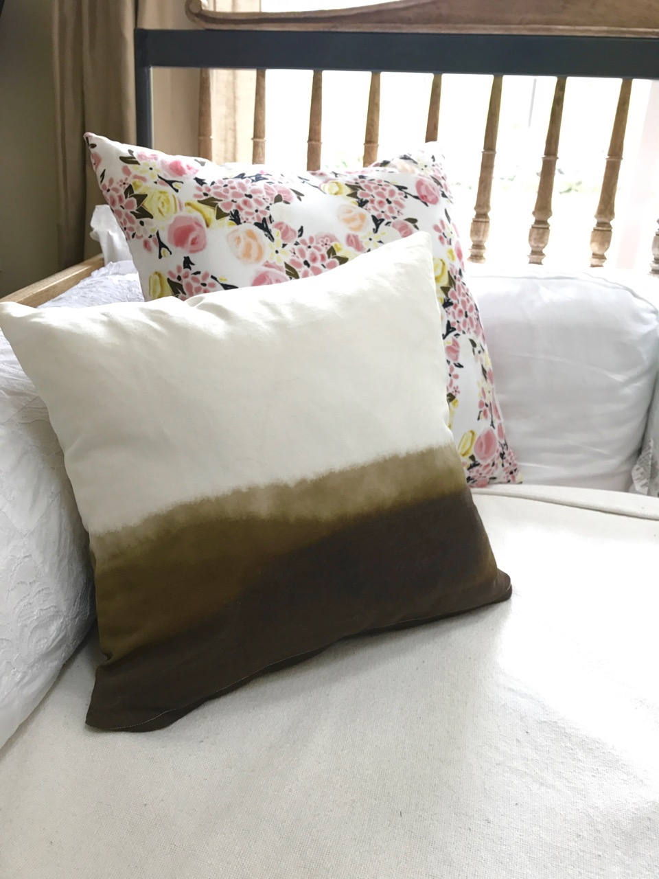 watercolor and floral throw pillows