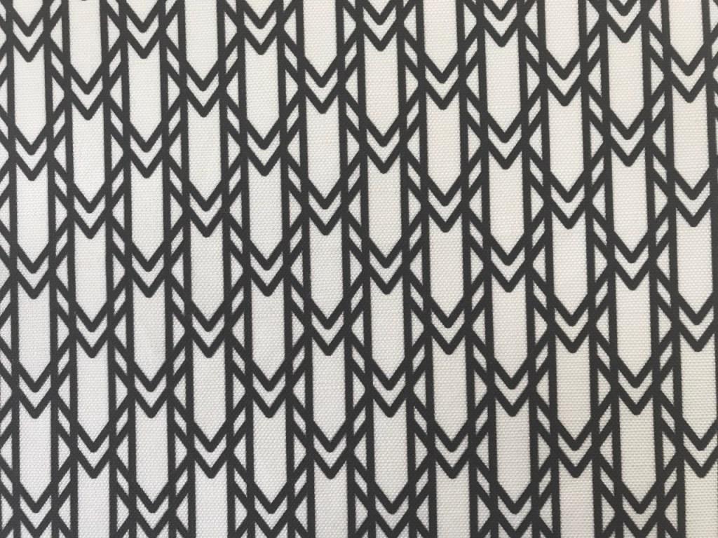 Onyx black linen canvas fabric