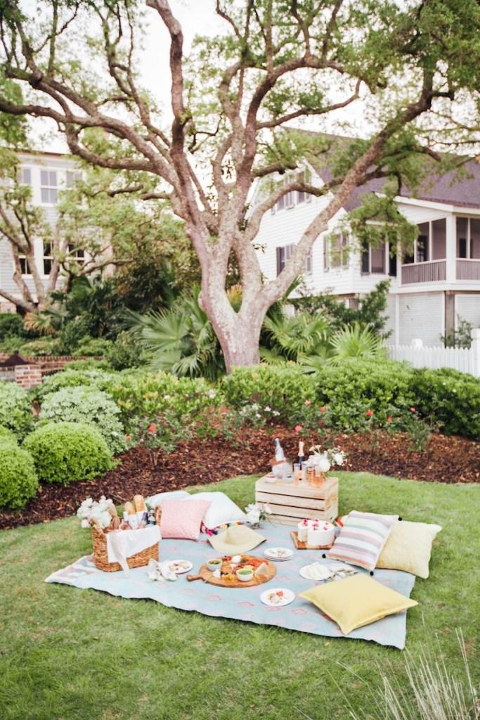 backyard home picnic
