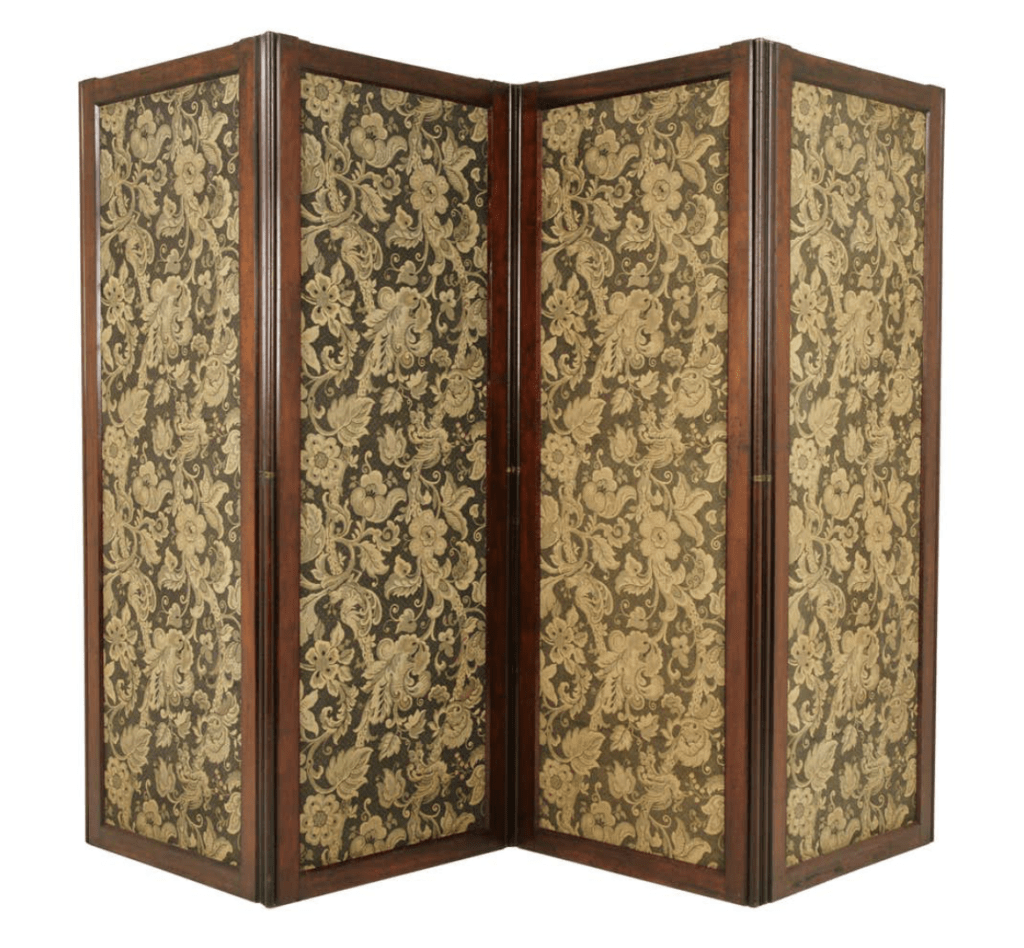 Antique Room Divider, Privacy Screen, Folding Screen Scotland 1880 B1412