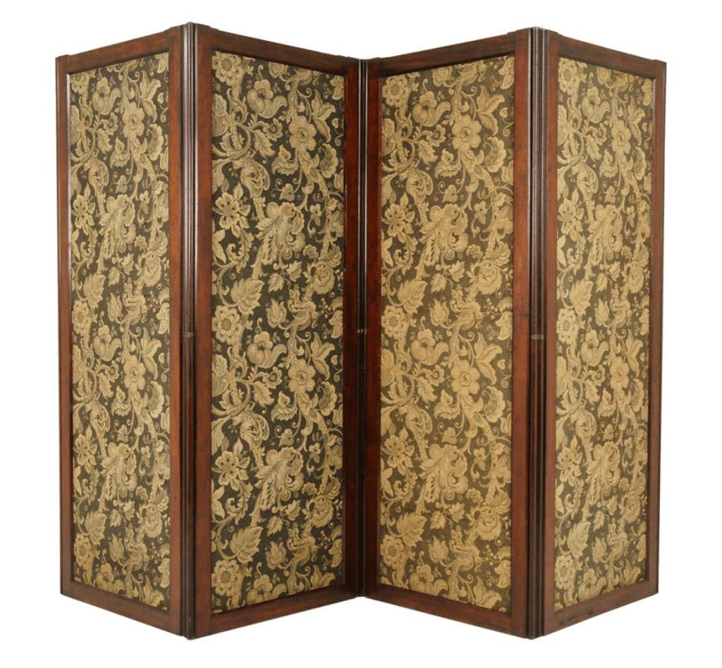 Antique Room Divider, Privacy Screen, Folding Screen Scotland 1880 B1412
