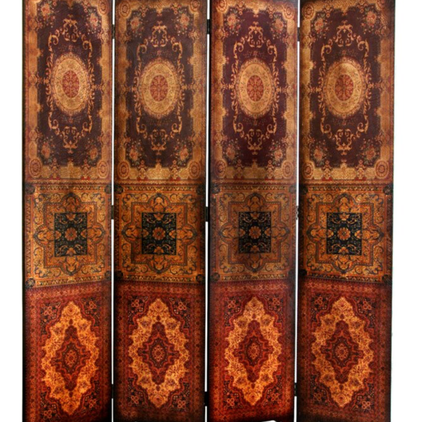 Clair Baroque 4 Panel Room Divider