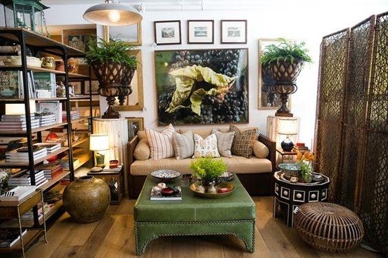 green ottoman room divider living room
