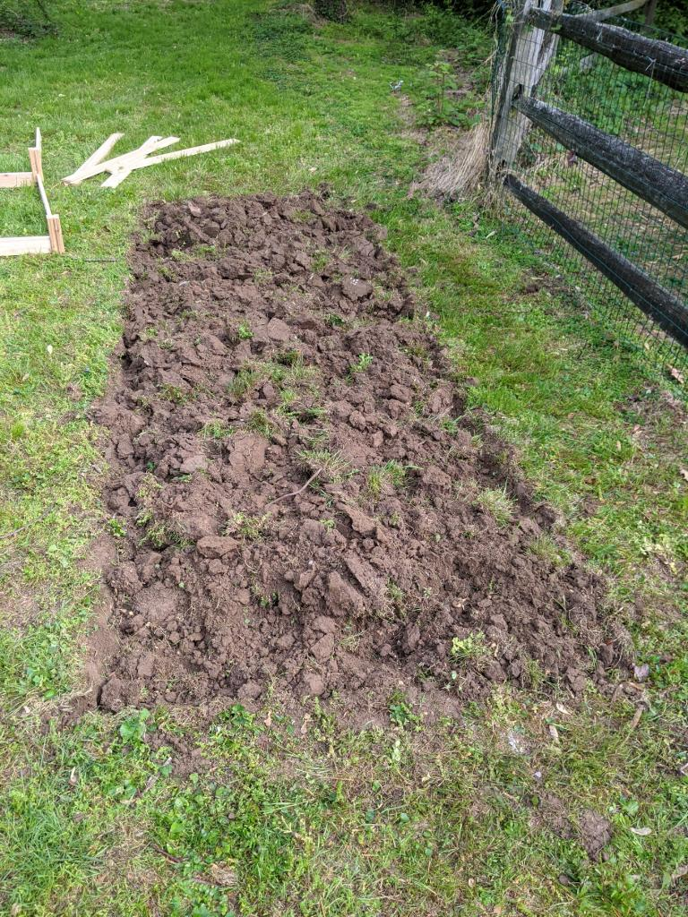 leveling yard for square foot garden raised beds