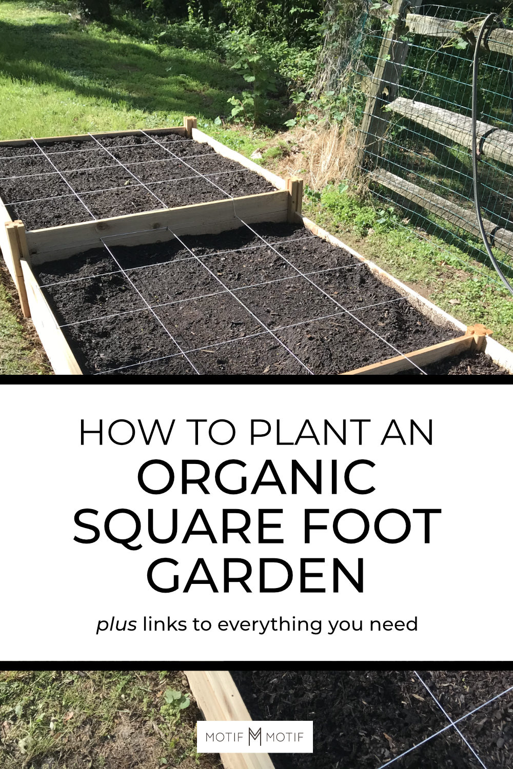 organic square foot garden guide pin