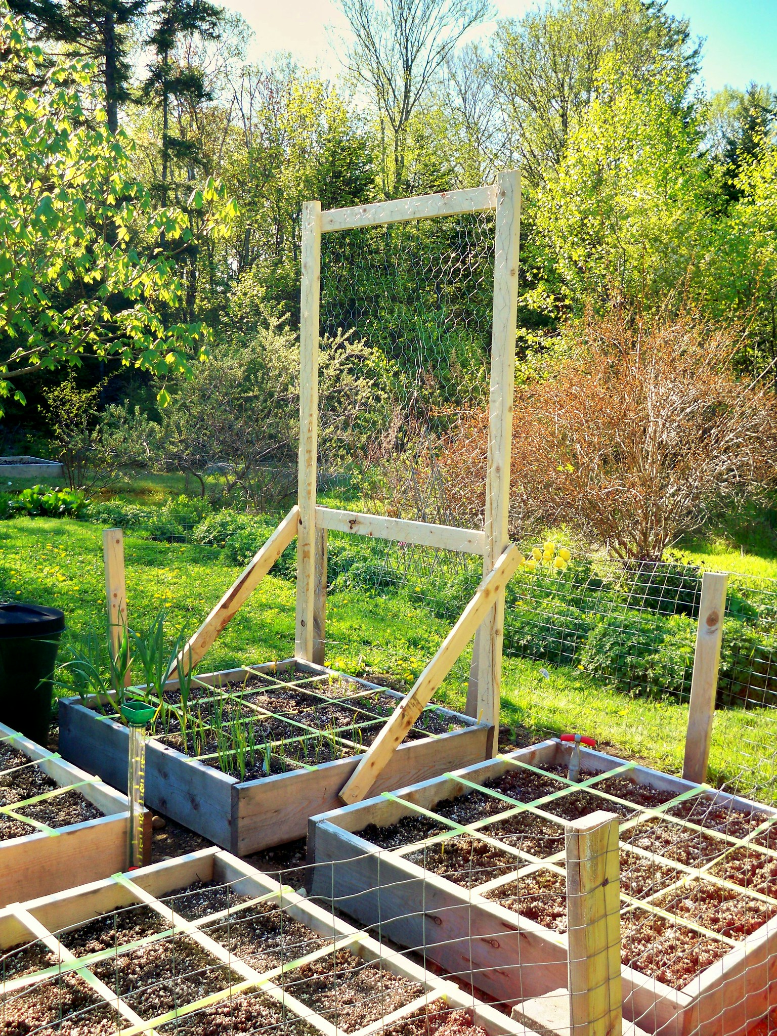 trellis for square foot garden