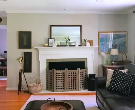 TV/ Living Room Mantel & Curtain Updates