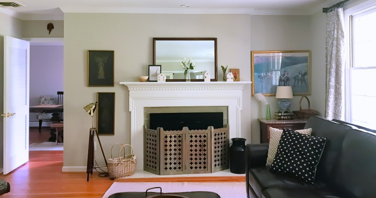 TV/ Living Room Mantel & Curtain Updates