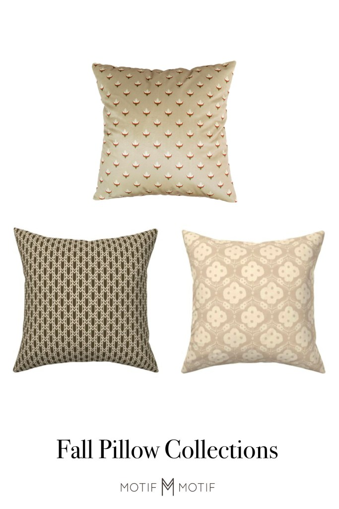 tan and olive green fall decorative pillows