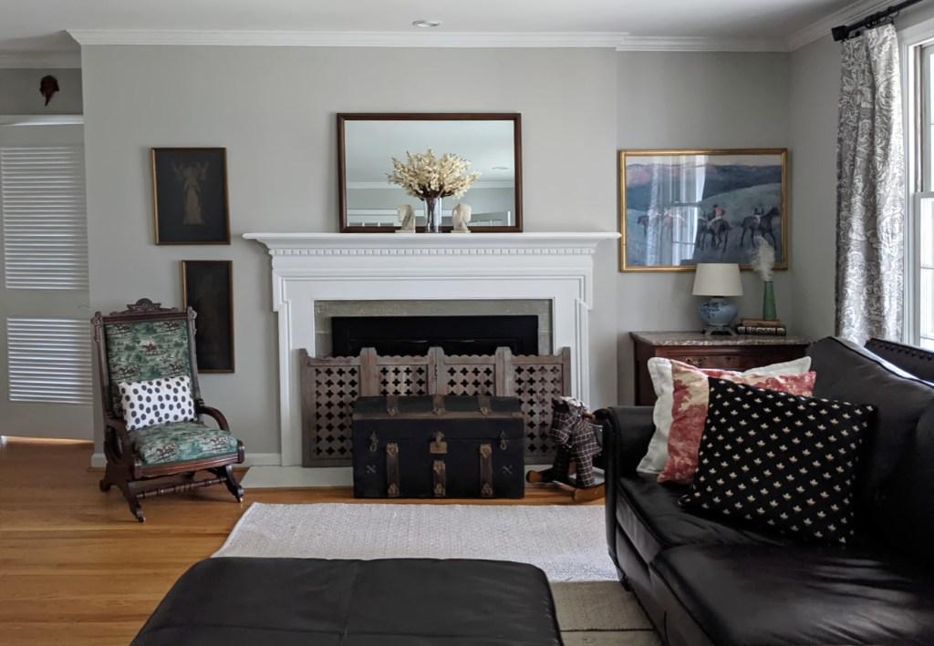 fresh gray living room