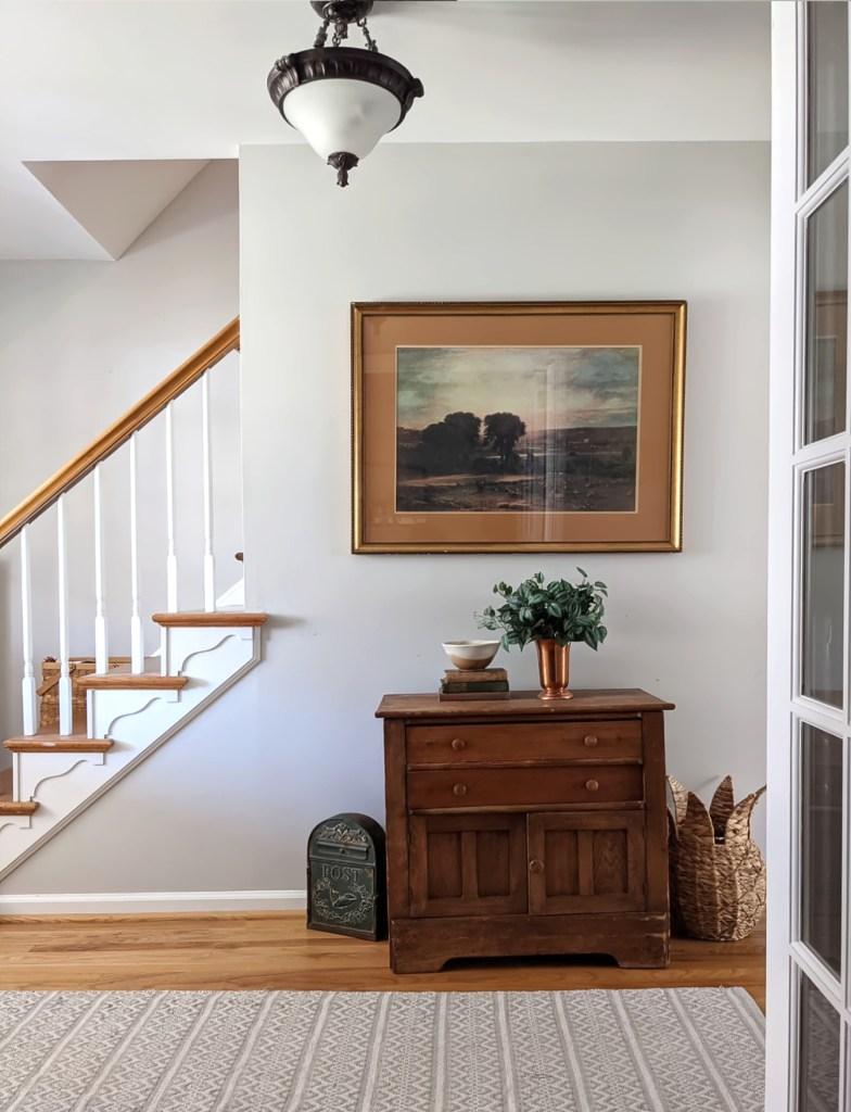 spring entryway decor