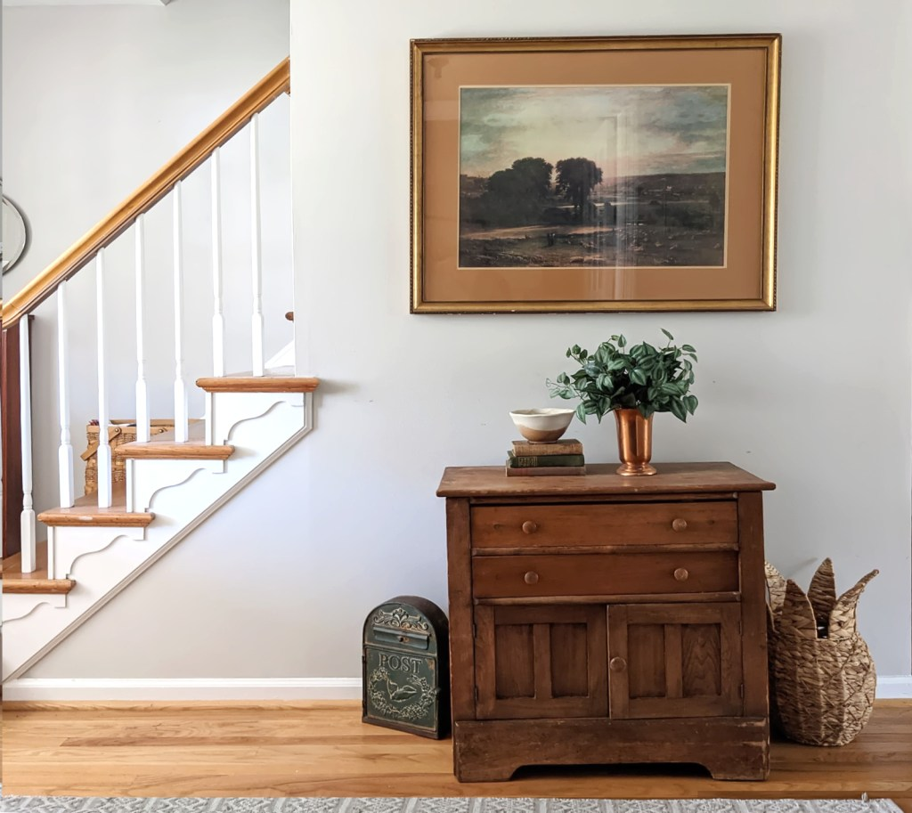 spring home tour entryway hall table
