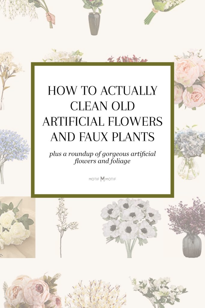 botanical pin image to share how to clean artificial flowers on pinterest